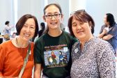 From left: Karen Umemoto, Director, UCLA Asian American Studies Center, Maiya Osumi and Jenni Kuida.