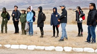 "At Manzanar's administration area, the flashpoint of the Manxzanar ""Riot."""