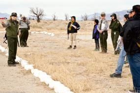 "At Manzanar's administration area, the flashpoint of the Manzanar ""Riot."""