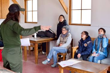 Inside the Block 14 barrack depicting 1944 living conditions during a discussion about the infamous loyalty questionnaire.