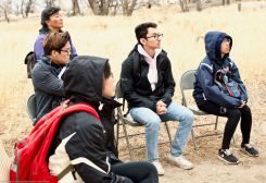 At the site of Manzanar's Children's Village, where Manzanar National Historic SIte's Chief of Interpretation Alisa Lynch talked about the only orphanage at any of America's World War II concentration camps.