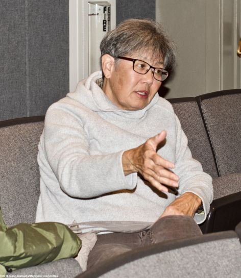 Former Manzanar incarceree and Manzanar Committee member Pat Sakamoto told the story of how her family struggled after leaving Manzanar.