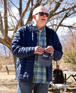 Inyo County local BIll Michael, former Director of the Eastern California Museum (ECM) and Vice Chair of the now-defunct Manzanar Advisory Commission, talked about the exhibit at the ECM that preceded the Manzanar National Historic Site and about the struggle to gain support in Inyo County for the creation of the Manzanar National Historic Site.