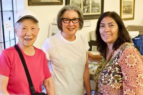 At the annual Manzanar reception at the Eastern California Museum on April 27, 2018, hosted by the Friends of Eastern California Museum. From left: Manzanar NHS volunteer Ann Sasaki,Barbara Takei of the Tule Lake Committee and Manzanar NHS Superintendent Bernadette Johnson.