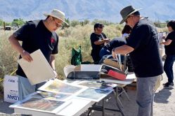 The calm before the storm really isn't all that calm as we work to get everything ready for the start of the 49th Annual Manzanar Pilgrimage on April 28, 2018, at the Manzanar National Historic Site.