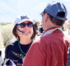 """Manzanar Committee member Colleen """"Teeny"""" Miyano sure is happy about something, but we doubt that Manzanar Committee Co-Chair Bruce Embrey (left) made her laugh...he's just not that funny!"""