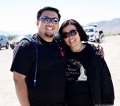 Manzanar Committee member Jason Fujii (left) with his mother, Janet Fujii.