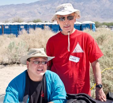 Manzanar Committee member Ken Tang (left) and NCRR member Richard Katsuda (right).