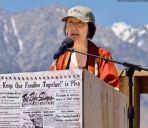 Karen Umemoto, Ph.D., Director of the UCLA Asian American Studies Center whose father, Hank Umemoto, was incarcerated at Manzanar, delivered a powerful speech.