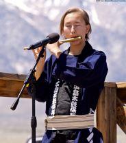 Miro Koshio performed with his father, Ken Koshio (not pictured)