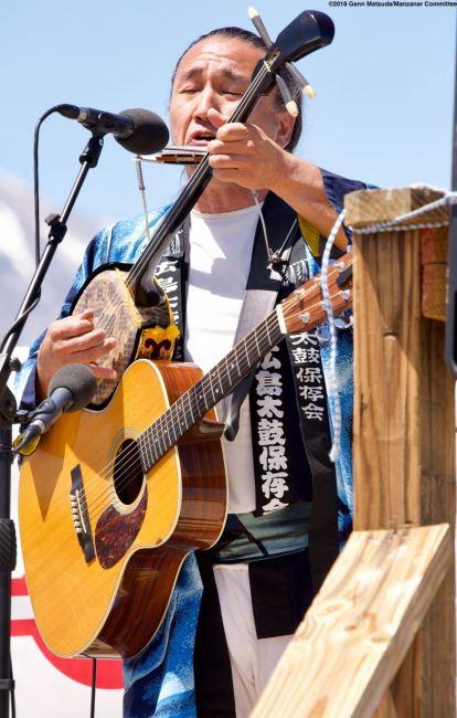 Ken Koshio performed at the Manzanar Pilgrimage once again.