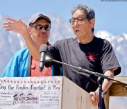 Wilbur Sato (right), the 2018 recipient of the Sue Kunitomi Embrey Legacy Award, shown here with Manzanar Committee Co-Chair Bruce Embrey (left).