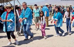 The Manzanar Pilgrimage always ends on a high note..Ondo dancing.