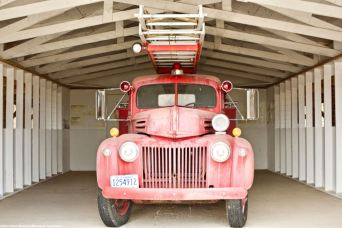 One of the fire trucks that was in service at Manzanar during World War II.