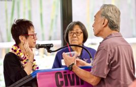 From left: NCRR Co-Chairs Kay Ochi, Kathy Masaoka and Richard Katsuda.