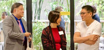 From left: Gerald Sato, Karen Umemoto, Don Misumi