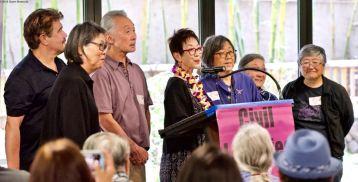 NCRR's Book Committee. From left: Lane Hirabayashi, Qris Yamashita, Richard Katsuda, Kay Ochi, Kathy Masaoka, Suzy Katsuda (partially obscured), Janice Yen.