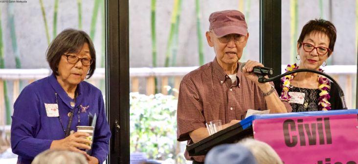 From left: Kathy Masaoka, Jim Matsuoka, Kay Ochi