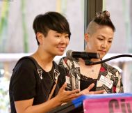 traci ishigo (left) and traci kato-kiriyama (right)
