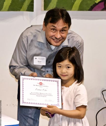 Manzanar Committee Co-Chair Bruce Embrey with award winner Emma Cho