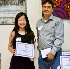 Manzanar Committee Co-Chair Bruce Embrey with award winner Sara Omura