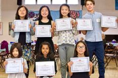 Some of the winners of the Third Annual Manzanar Committee Student Awards