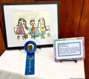 Emma Cho, Kindergarten, Playa Vista Elementary School, Los Angeles Unified School District. First Place (Grades Pre-K-Kindergarten). Category: Visual Arts/Individual.