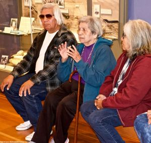 The Button family from Lone Pine, California, whose roots date way back to the Paiute and Shoshone settlement of the Owens Valley. That's Irene Button (center).