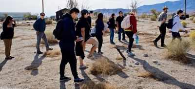 Heading to the site of Block 20, where former Manzanar Committee Chair Sue Kunitomi Embrey was incarcerated.