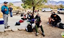 Lunch at Merritt Park. Manzanar Committee Co-Chair Bruce Embrey talked about his mother, Sue Kunitomi Embrey—how and why she became an activist.