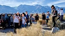 At the Manzanar Reservoir.