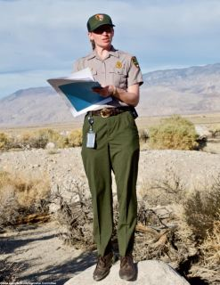 Manzanar NHS Ranger Sarah Bone at the Manzanar Reservoir.