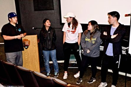 Wrap-up for the weekend. Students discuss how the weekend impacted them and what lessons they might be able to draw from for planning the annual Manzanar At Dusk in April.
