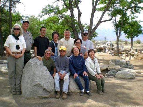 Front row (from left): Barry Amos, Henry Nishi, Amy Nishi, Carol Nishi. Back row (from left): Mary Burton, Jeff Burton, Brian Teraoka, Sherry Ota, Patrick Alvarado, Iris Alvarado, Robert Nishi.