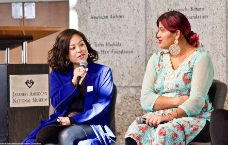 Panelist and Attorney Lisa Okamoto (speaking)