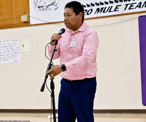 The open mic session at the conclusion of the 2019 Manzanar At Dusk program, April 27, 2019, at Lone Pine High School.