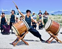 UCLA Kyodo Taiko opened the 50th Annual Manzanar Pilgrimage, April 27, 2019, at the Manzanar National Historic Site/