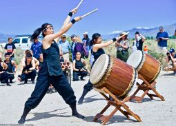 UCLA Kyodo Taiko opened the 50th Annual Manzanar Pilgrimage, April 27, 2019, at the Manzanar National Historic Site.