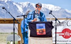 Manzanar Committee Co-Chair Bruce Embrey during the 50th Annual Manzanar Pilgrimage, April 27, 2019, at the Manzanar National Historic Site.