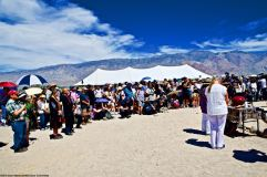 Interfaith service. 50th Annual Manzanar Pilgrimage, April 27, 2019, at the Manzanar National Historic Site.