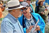 Warren Furutani (left) with Bruce Embrey (right)