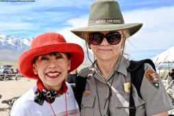 Karen Korematsu (left) with Ranger Patricia Biggs.