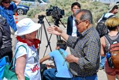 That's Ron Wakabayshi at right, who participated in the first organized Manzanar Pilgrimage in 1969.