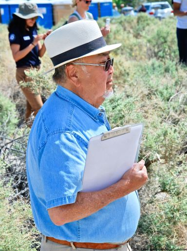 Warren Furutani, one of co-founders of the Manzanar Pilgrimage and the Manzanar Committee, was one of the co-emcees of the 50th Annual Manzanar Pilgrimage.