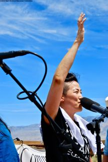 traci kato-kiriyama was one of the co-emcees of the 50th Annual Manzanar Pilgrimage.
