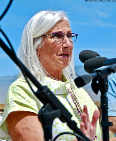 Cindy Orlando, Acting Deputy Regional Director, Pacific West Region, National Park Service, addressed the crowd during the 50th Annual Manzanar Pilgrimage.