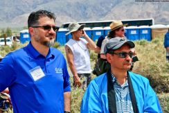 Hussam Alyoush, Executive Director, Council on American-Islamic Relations, Greater Los Angeles (left) with Manzanar Committee Co-Chair Bruce Embrey (right).
