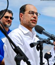 Nihad Awad, Executive Director, Council on American-Islamic Relations, addressed the crowd during the 50th Annual Manzanar Pilgrimage.