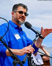 Hussam Alyoush, Executive Director, Council on American-Islamic Relations, Greater Los Angeles, addressed the crowd during the 50th Annual Manzanar Pilgrimage.