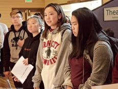 "Katari student participate in a ""Racist Laws"" exercise, learning about the widespread anti-Asian sentiment in the decades preceding World War ii."